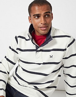 Padstow Pique Sweat in White