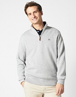 French Rib Sweat in Mid Grey Marl
