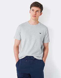 Crew Classic T-Shirt in Ice Grey Marl