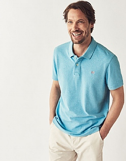 Classic Pique Polo in Cove Blue Marl