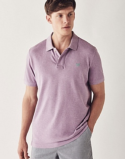 Classic Pique Polo in Lilac Marl