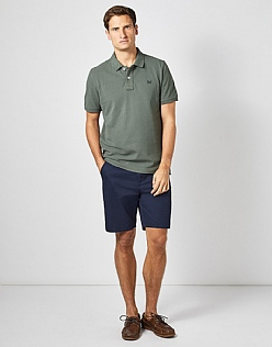 Classic Pique Polo in Seaweed