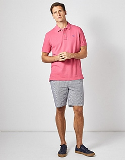 Classic Pique Polo in Summer Pink