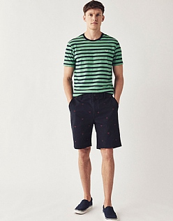 Crossed Oars Embroidered Bermuda Shorts