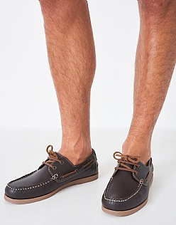 Austell Boat Shoe in Chocolate