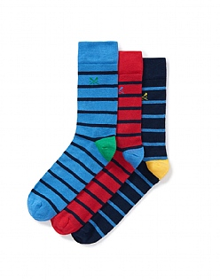 3 Pack Bamboo Socks in Navy
