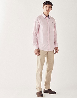 Crew Classic Fit Gingham Shirt In Classic Pink