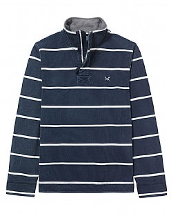 Padstow Pique Sweatshirt in Dark Navy