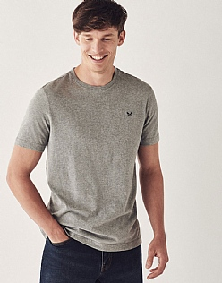 Crew Classic T-Shirt In Light Grey Marl