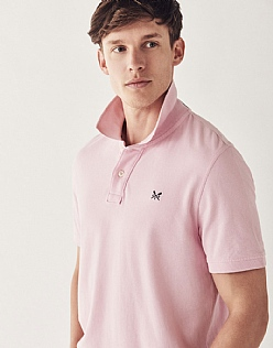 Classic Pique Polo Shirt In Classic Pink