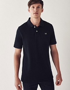 Classic Pique Polo Shirt In Navy