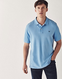 Classic Pique Polo Shirt In Sky Blue
