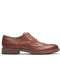 Classic Leather Brogues In Brown