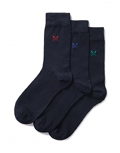 3 Pack Plain Bamboo Socks