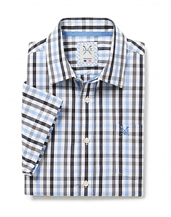 Multi Gingham Short Sleeve Shirt