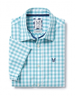 Short Sleeve Classic Fit Ginham Shirt