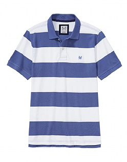 Crew Stripe Polo