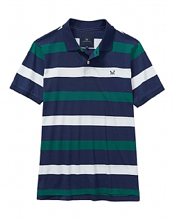 Wide Stripe Jersey Polo Shirt