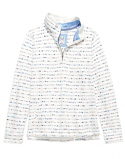 Zip Neck Print Sweat