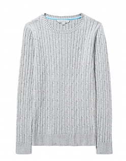 Lurex Cable Crew Jumper
