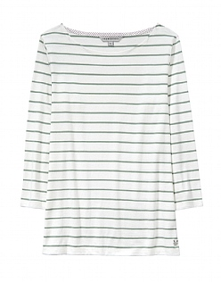 Cassie Stripe Breton T-Shirt in Green