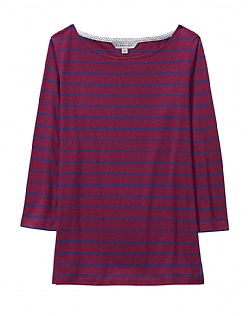 CASSIE STRIPE BRETON T-SHIRT IN PURPLE