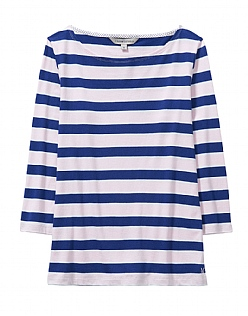CASSIE STRIPE BRETON T-SHIRT IN PINK