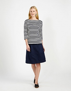 Pleat A-Line Skirt