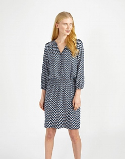 Ruched Neck Dress