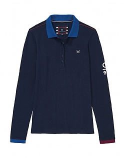 Crew Club Long Sleeve Womens Pique Polo