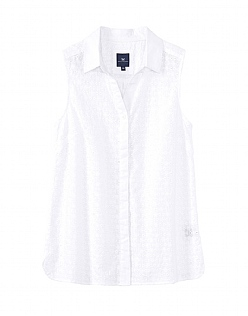 Sleeveless Broderie Shirt