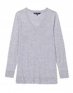 Relaxed Merino V-neck Jumper
