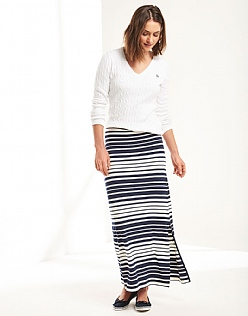 Graduated Stripe Maxi Skirt