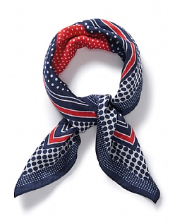 Stripe Silk Neckerchief