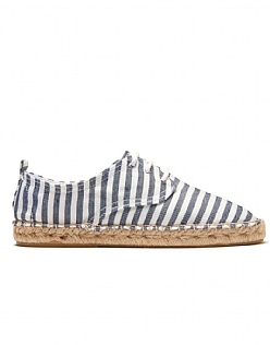 Stripe Lace Up Espadrille