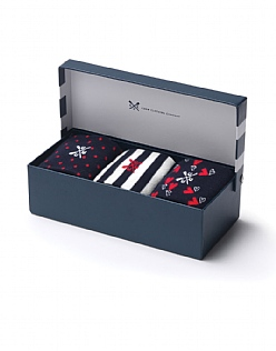 3 Pack Heart Sock Box