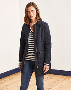 Forres Quilted Long Jacket