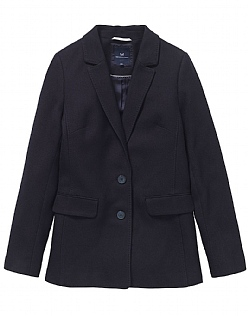 Longline Blazer In Dark Navy
