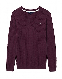 Heritage Cable V Neck Jumper
