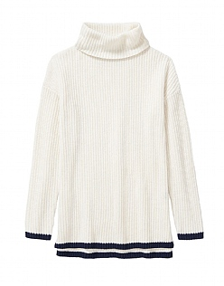 Tipped Trim Rollneck Jumper