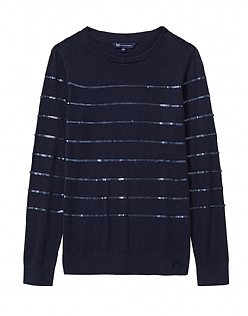 Sequin Stripe Jumper