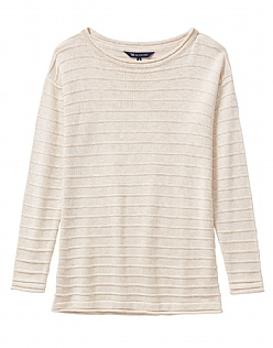The Salcombe Essential Knit In Latte Marl