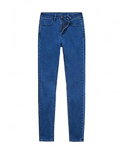 The Drainpipe Jean In Denim Blue