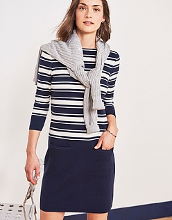 Stripe Milano Knitted Dress