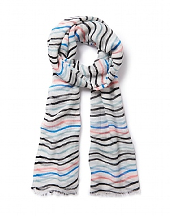 Wave Striped Scarf