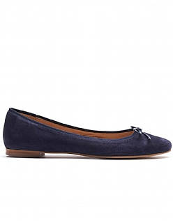 Belle Ballet Pumps in Navy Blue