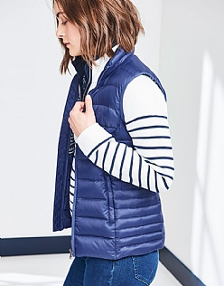 Lightweight Down Gilet In Bright Navy