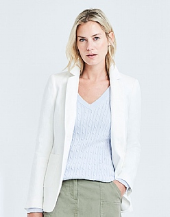 Linen Loweswater Blazer in White
