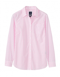 Elbury Classic Mix Print Shirt In Classic Pink