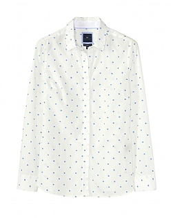 Penhale Poplin Embroidered Shirt In White